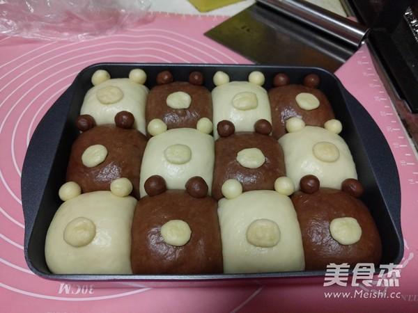 挤挤面包之双色小熊的做法大全