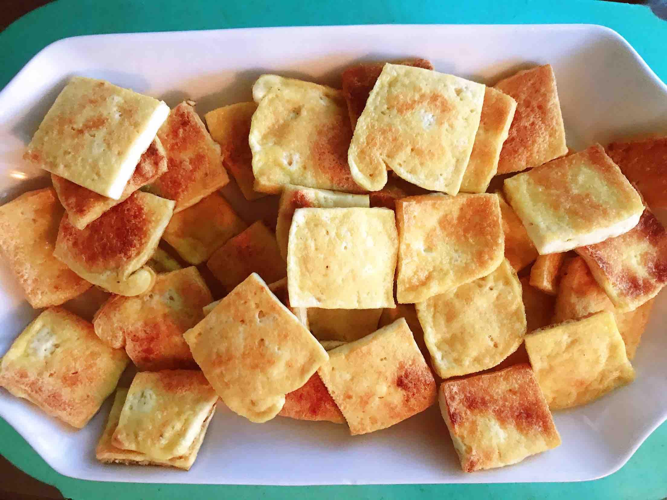清新爽口带着春的气息的素食笋丁豆腐青团的做法图解