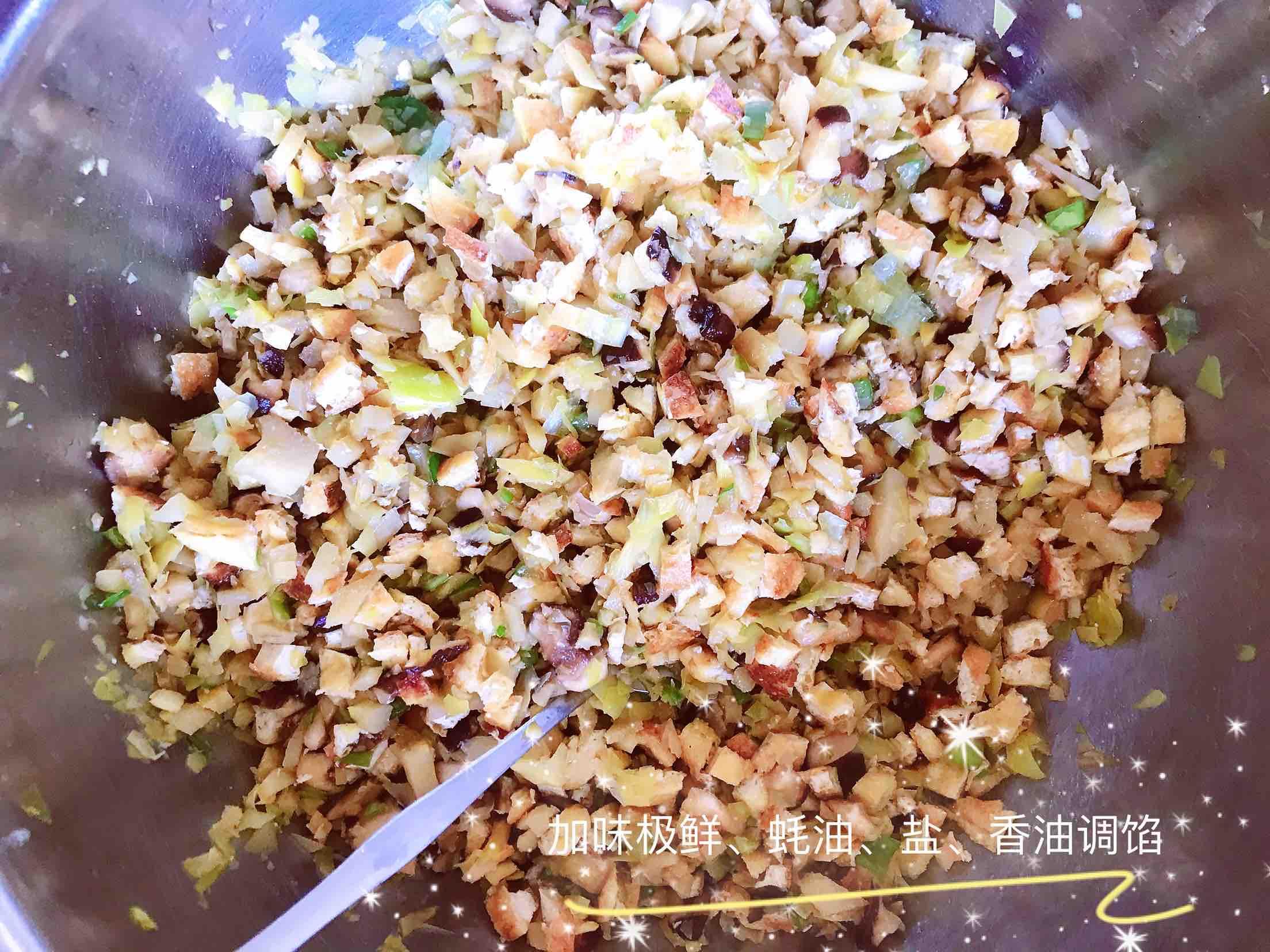 清新爽口带着春的气息的素食笋丁豆腐青团怎么煸