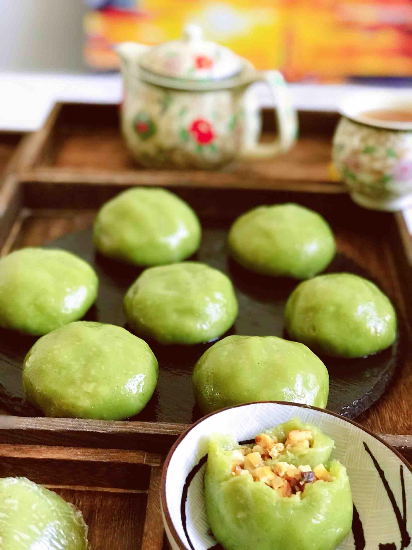 清新爽口带着春的气息的素食笋丁豆腐青团怎样炖