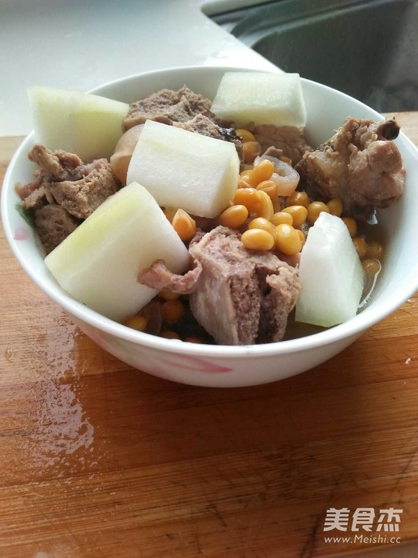 孕妇汤水-冬瓜黄豆排骨汤的步骤