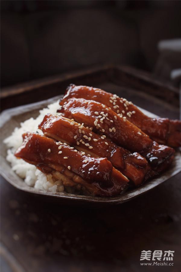 今天这碗迷情照烧鸡腿饭,吃出所有的温情成品图