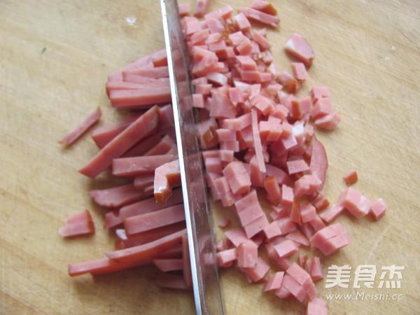 火腿炒米饭的做法图解