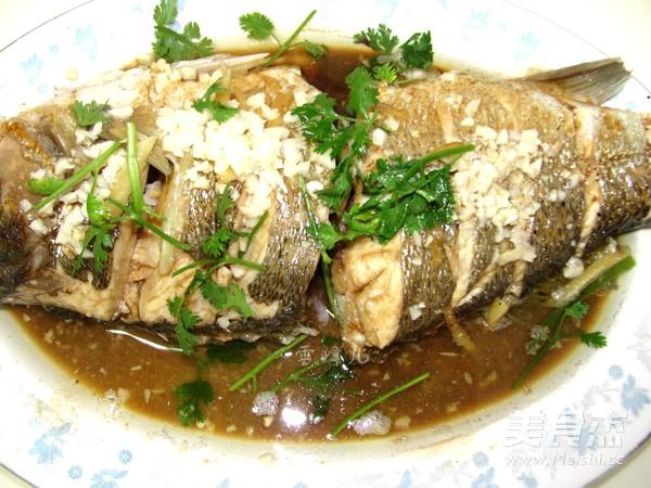 最简单的味道~清蒸鲈鱼成品图