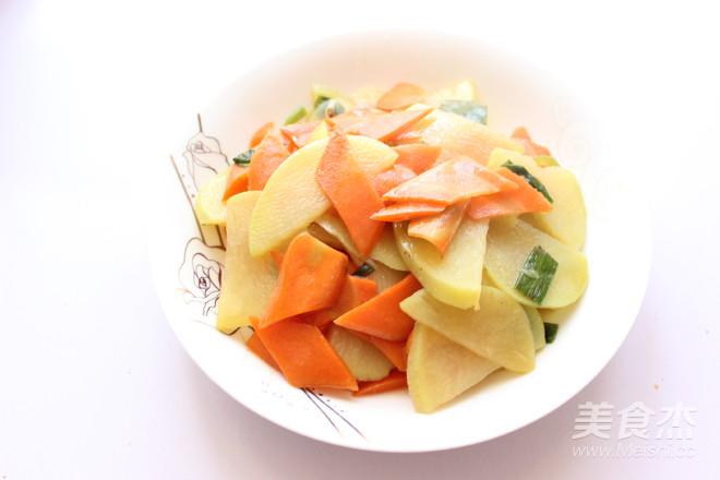 清炒胡萝卜土豆片怎么做