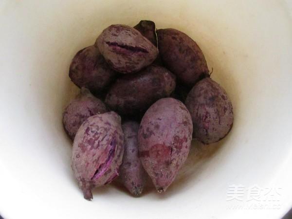 紫薯蛋黄酥的家常做法