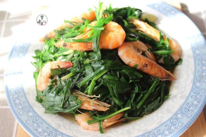 鲜虾炒韭菜怎么炒