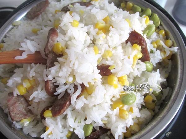 香肠玉米青豆饭怎么炒
