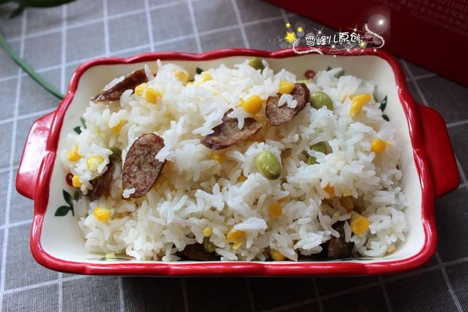 香肠玉米青豆饭怎么煮