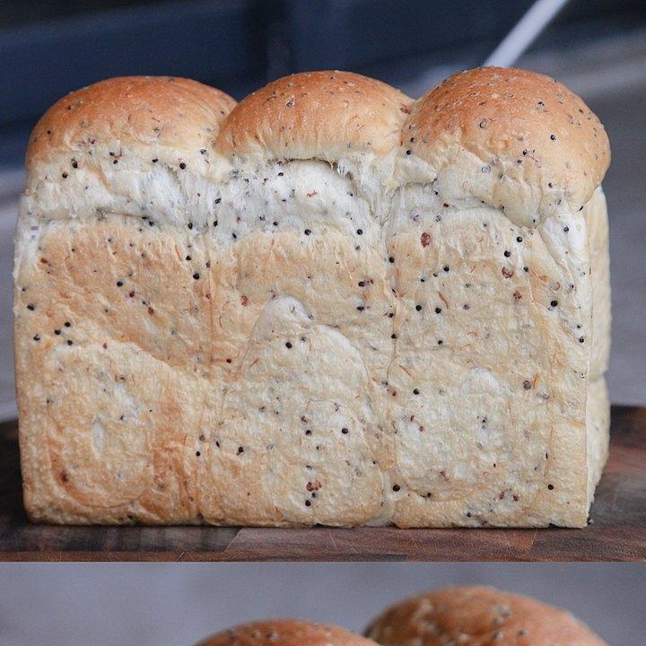 加了藜麦的牛奶吐司面包成品图