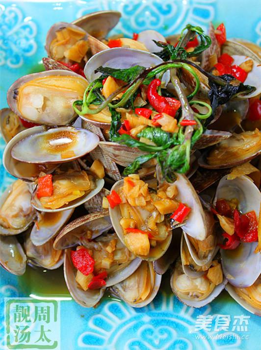 酒香紫苏炒蛤蜊怎么做