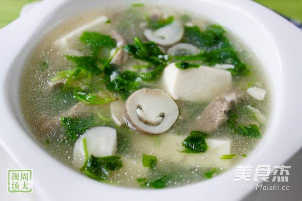 双菇荠菜豆腐羹怎么炖