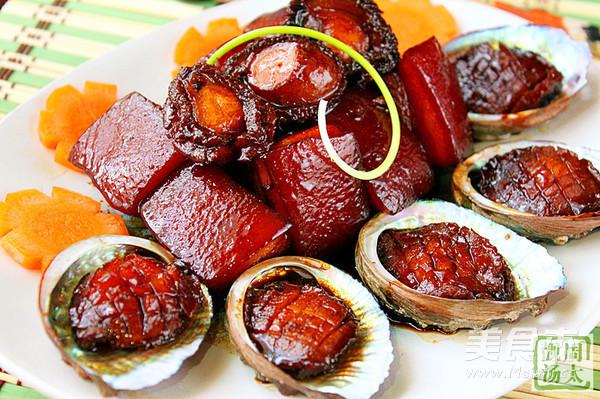 鲍鱼红烧五花肉成品图