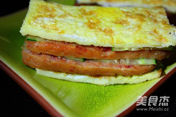 餐蛋另类三明治的步骤