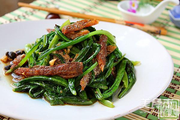 豆豉鯪魚油麥菜成品圖