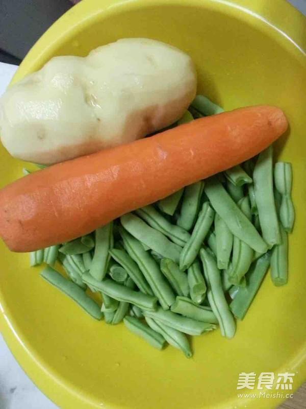 豆角土豆焖面的做法图解