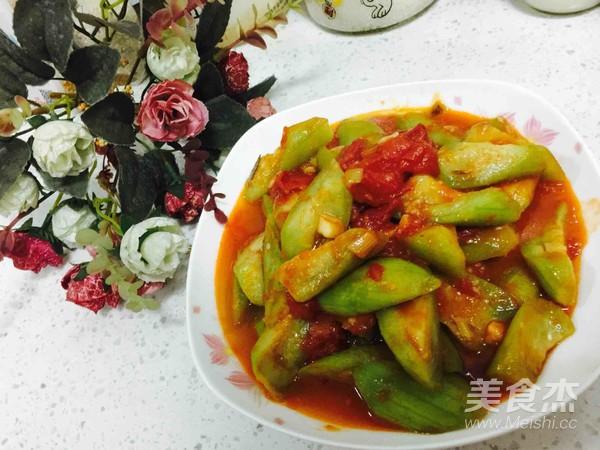 西红柿炒丝瓜怎么做