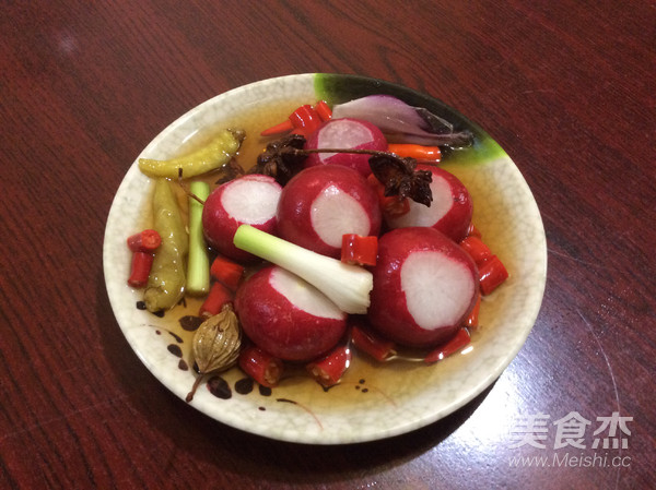 樱桃萝卜泡菜成品图