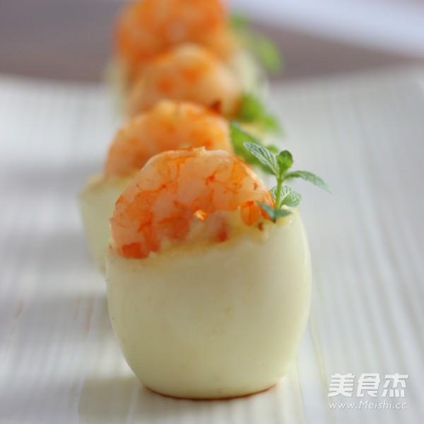 鮮蝦雞蛋杯成品圖