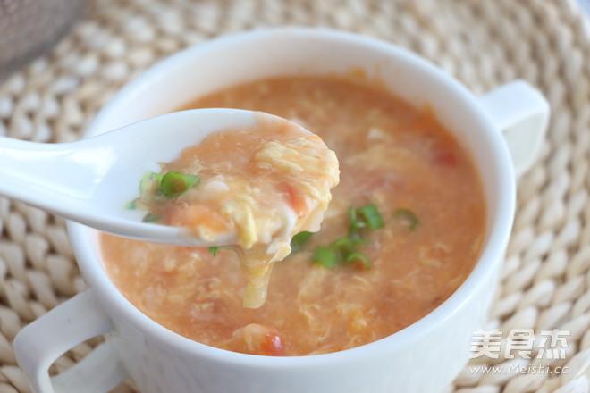 暖胃疙瘩汤成品图