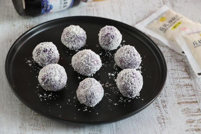 沙拉紫薯球成品图