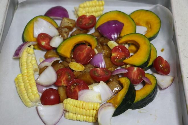 时蔬烤鸡胸肉的家常做法