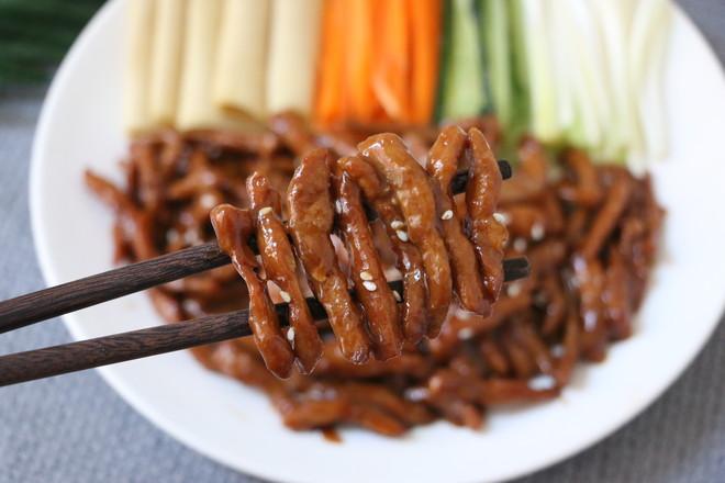 京酱肉丝成品图