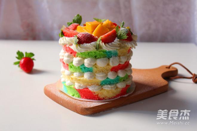彩虹裸蛋糕的做法大全