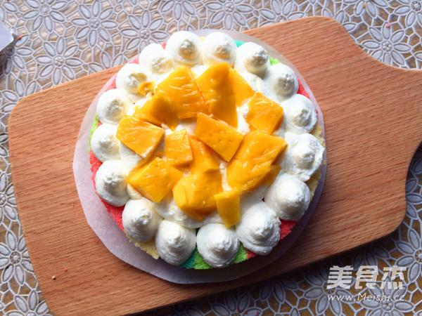 彩虹裸蛋糕的制作