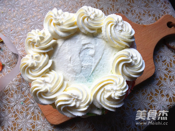 彩虹裸蛋糕的制作方法