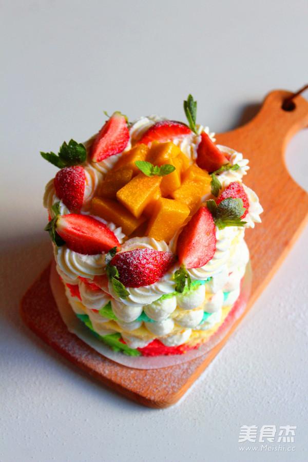 彩虹裸蛋糕的制作大全