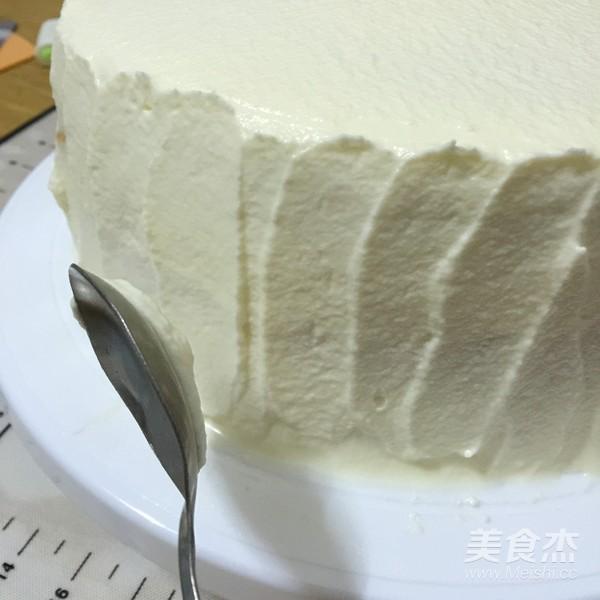 缤纷水果奶油蛋糕的制作
