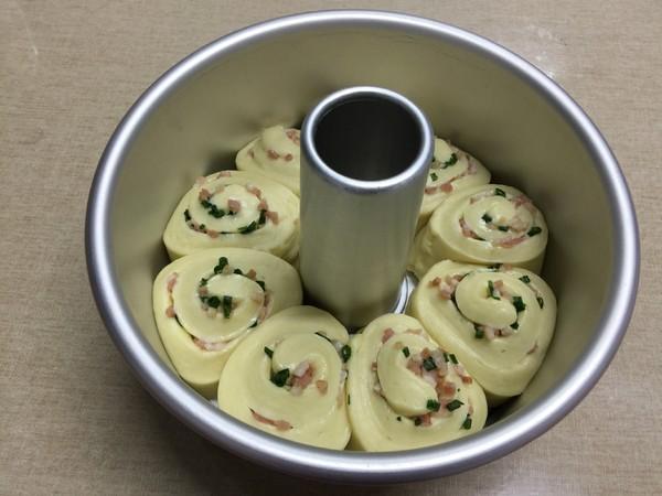 香葱培根面包圈的制作方法