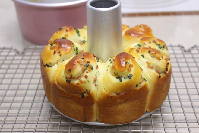 香葱培根面包圈的做法大全