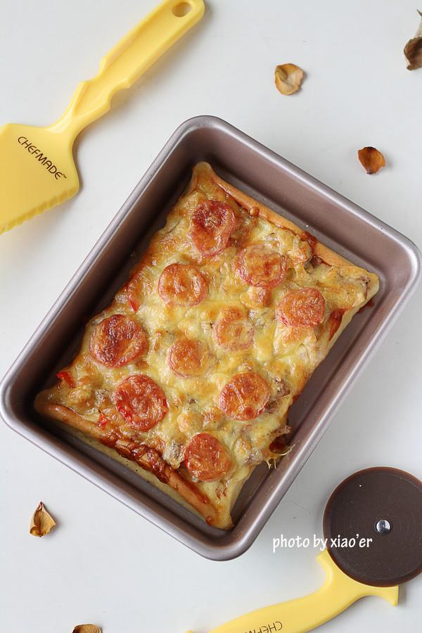 酸甜鸡肉披萨成品图