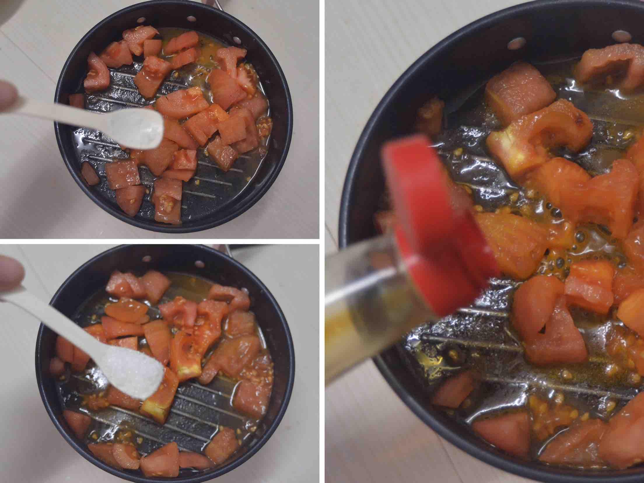 酸爽开胃 番茄豆腐鸡蛋羹的简单做法