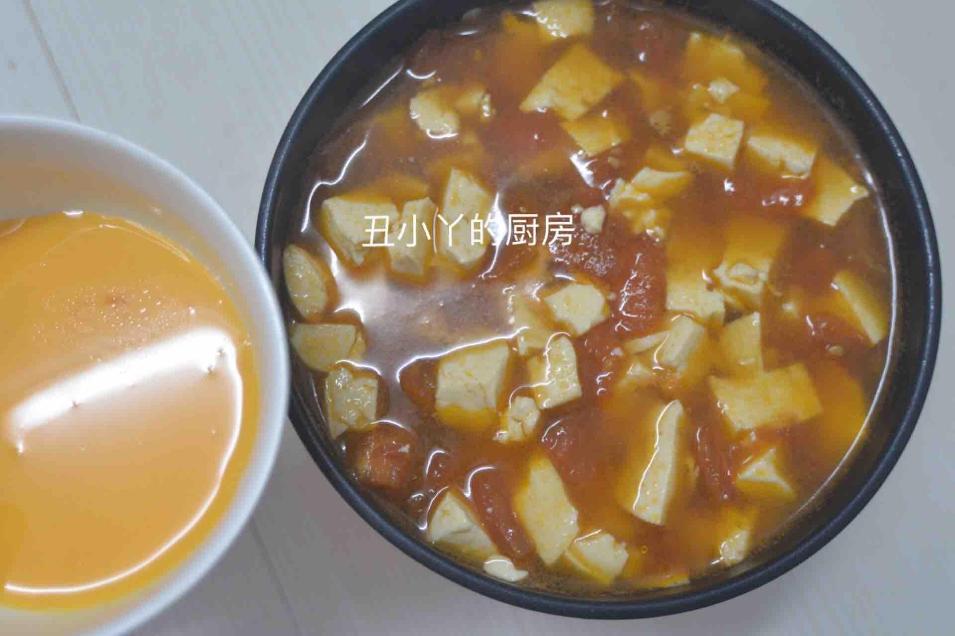 酸爽开胃 番茄豆腐鸡蛋羹怎么煮