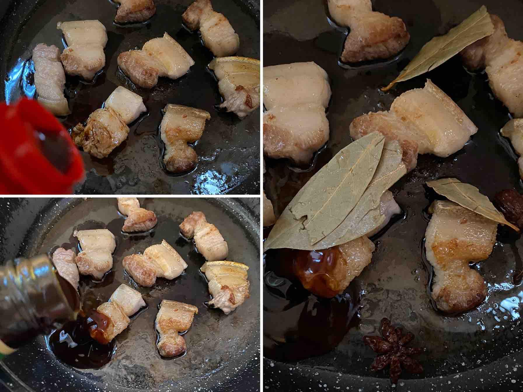 五花肉焖腐竹的家常做法