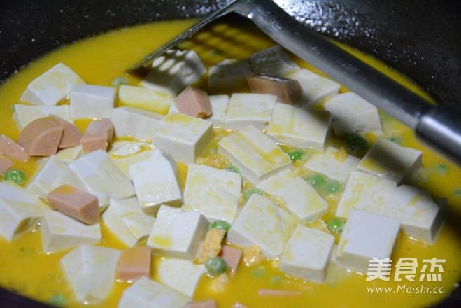 蟹黄豆腐家常做法怎么做