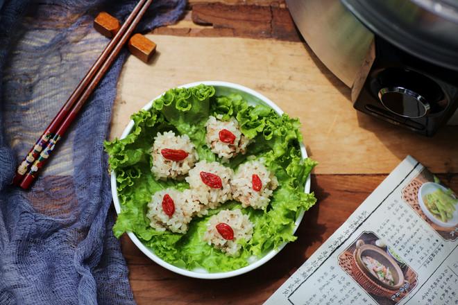 山药糯米蒸肉丸成品图