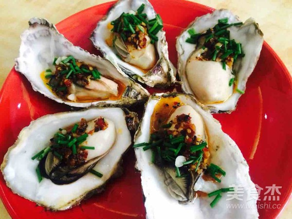 蒜蓉辣酱蒸牡蛎的家常做法