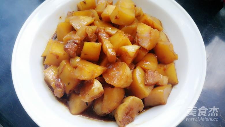 五花肉炖土豆怎么炒
