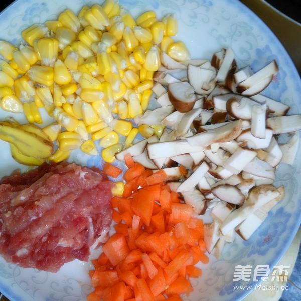 香菇玉米胡萝卜瘦肉粥的做法图解