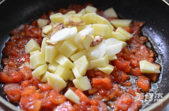 西红柿土豆炖牛肉的简单做法
