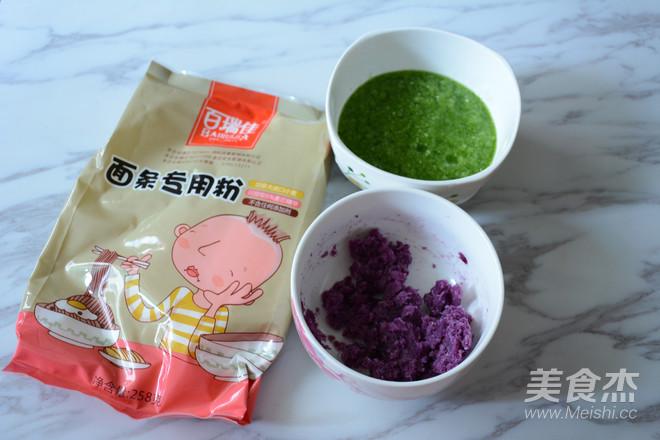 蔬菜彩色面条的做法大全
