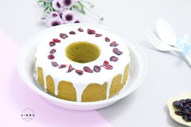 蔓越莓酸奶蛋糕成品图