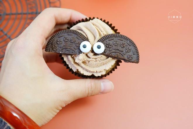 蝙蝠纸杯蛋糕成品图