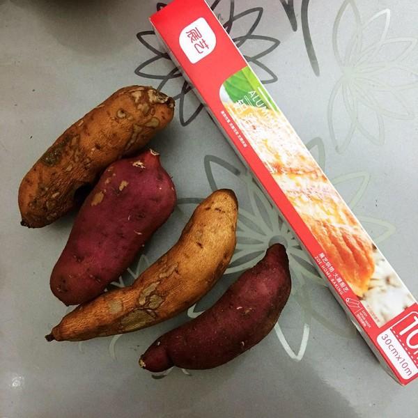 垂涎三尺烤红薯的步骤