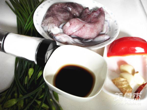 韭菜苔炒鱿鱼及清理的做法大全