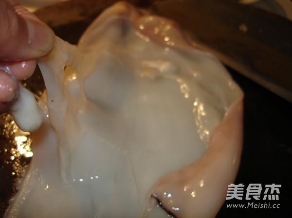 韭菜苔炒鱿鱼及清理的制作